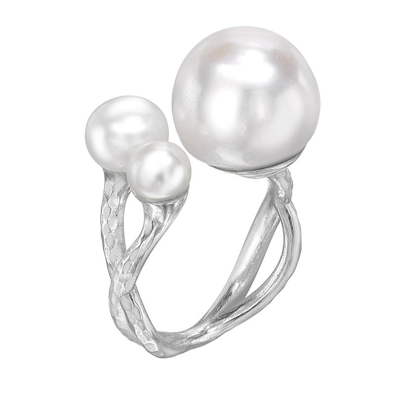 Statement Triple Freshwater Pearl Ring