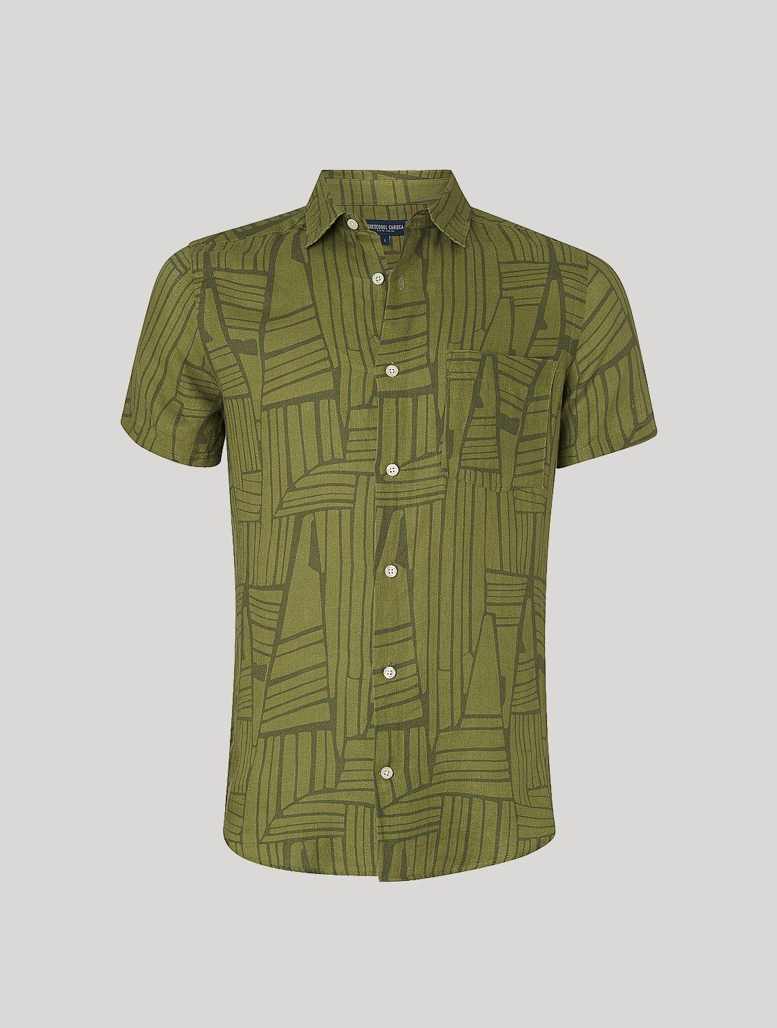 Tarsila Shirt Angles Print Olive L