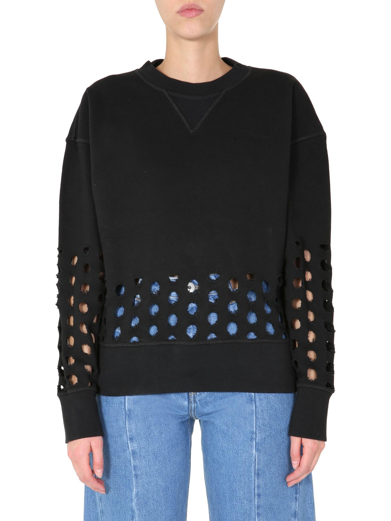 maison margiela round neck sweatshirt
