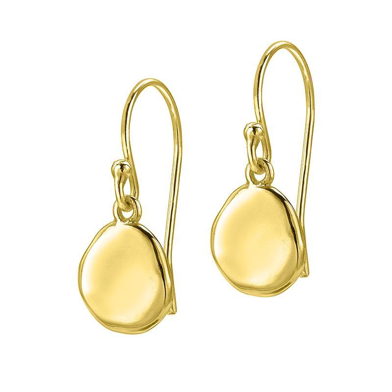 Round Dimple Pebble Drop Earrings