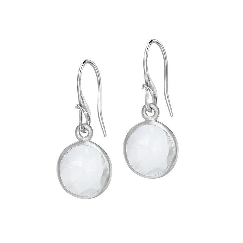 Round Labradorite Jewel Drop Earrings