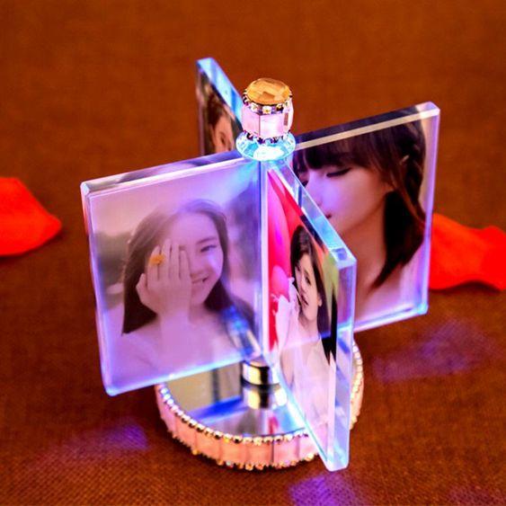 婚紗照創意訂製照片風車相框擺臺相冊結婚紀念擺件生日禮物送女生