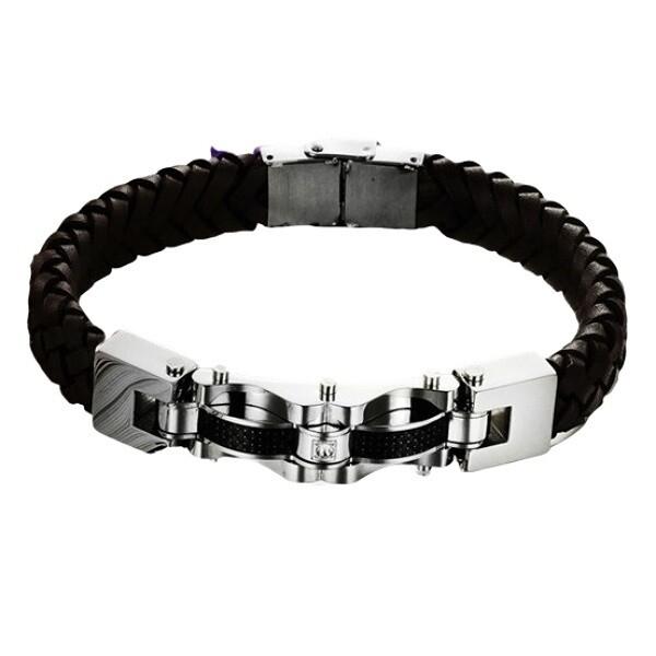米蘭精品真皮手環 鈦鋼手鍊-個性獨特帥氣設計男飾品73cq19