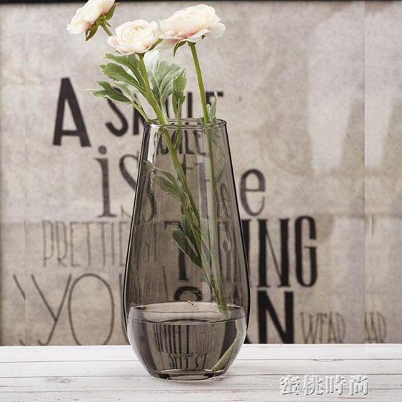 北歐 創意恐龍蛋造型花器客廳鮮花插花玻璃花瓶透明 大號裝飾擺設