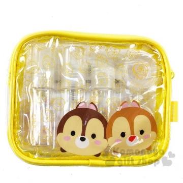 迪士尼TsumTsum 奇奇蒂蒂 防水旅行盥洗包五件組 空盒.空瓶.化妝包