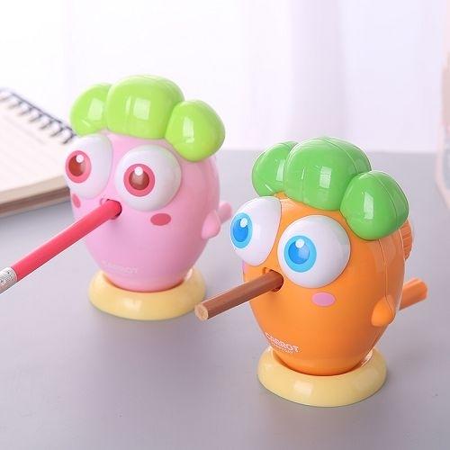 可愛胡蘿蔔削鉛筆筆器 小學生用手搖削鉛筆機