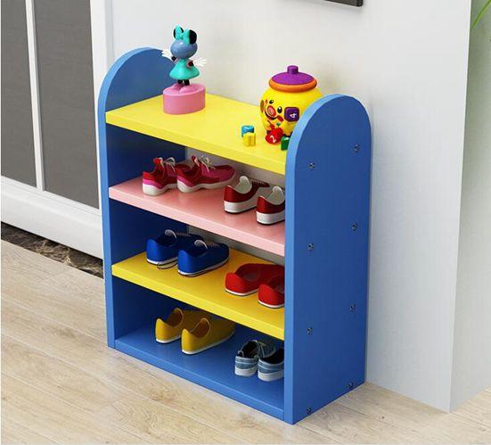 鞋架兒童鞋架彩色鞋架兒童收納置物架