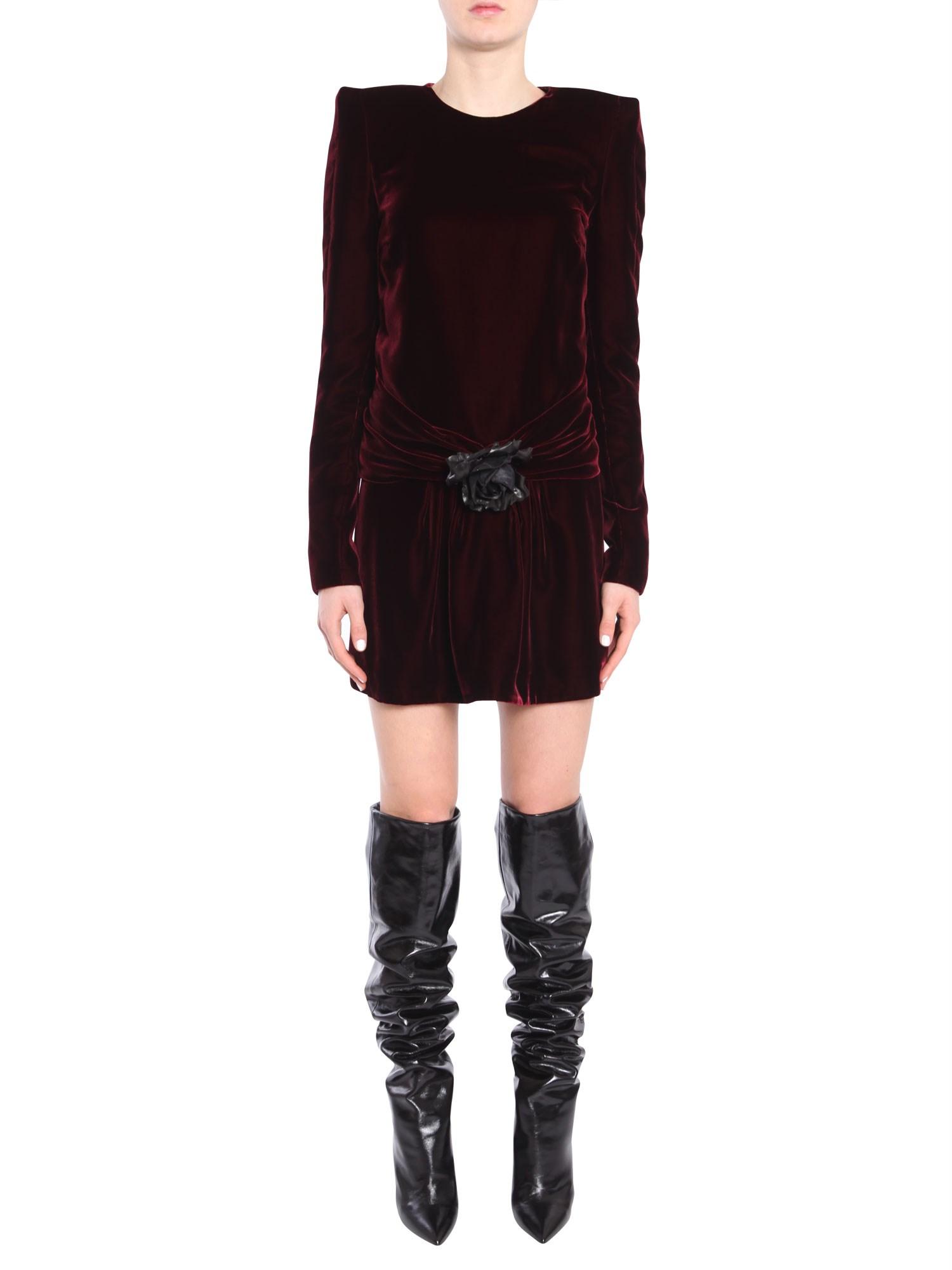saint laurent long-sleeved minidress