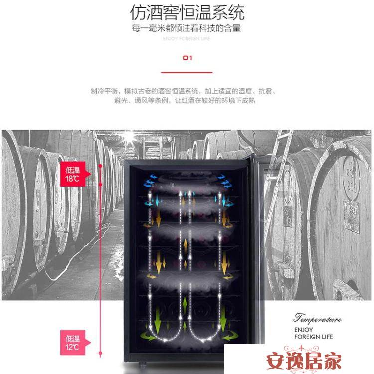 紅酒櫃子恒溫酒櫃家用小型客廳冰吧冷藏櫃電子葡萄酒展示櫃