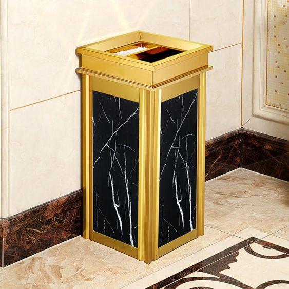 垃圾桶-不銹鋼垃圾桶酒店大堂立式高檔家用電梯口仿大理石戶外煙灰桶大號