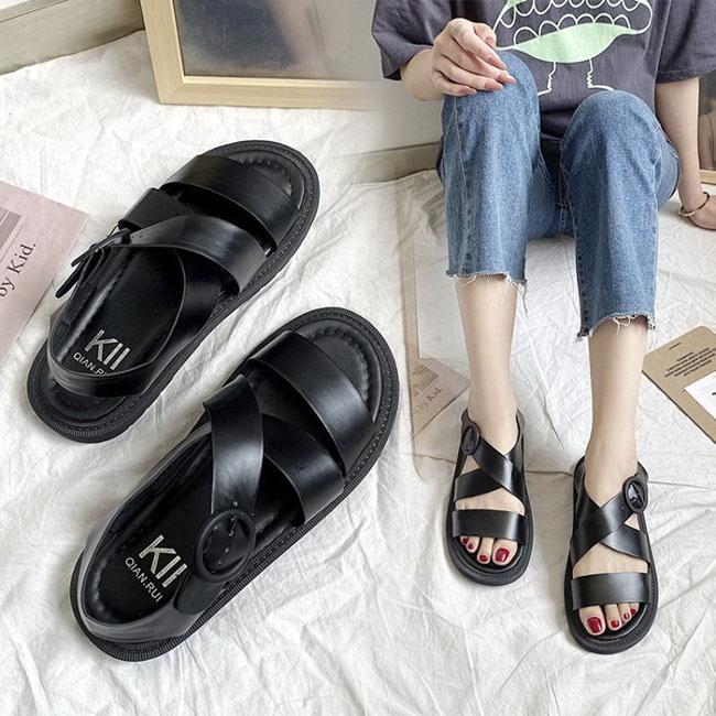 FOFU-羅馬涼鞋機能風PU鞋面百搭羅馬厚底涼鞋【02S12217】