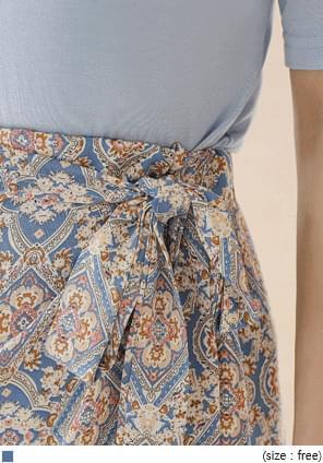 韓國空運 - 民族風裹身式層疊襬長裙 裙子