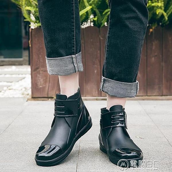 雨鞋男士春秋季低幫防水鞋英倫平底防滑膠鞋短筒時尚成人水鞋男  聖誕節免運