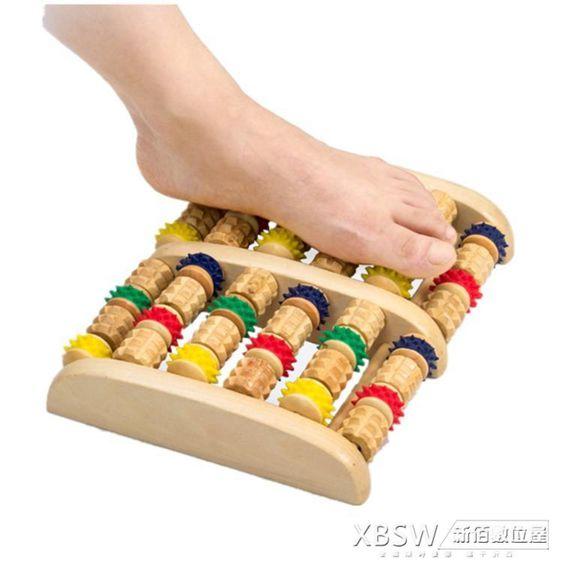 全實木家用滾輪式木制腳底按摩器足底按摩器腿部木質按摩穴位搓排CY