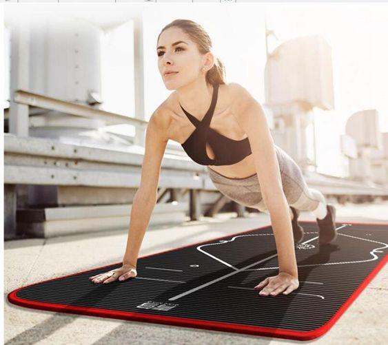 青鳥初學者瑜伽墊加厚加寬加長女男士防滑瑜珈舞蹈健身墊子三件套YTL
