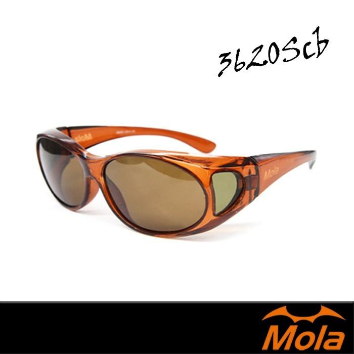 mola 摩拉包覆式偏光太陽眼鏡  套鏡 近視 老花可戴 3620scb
