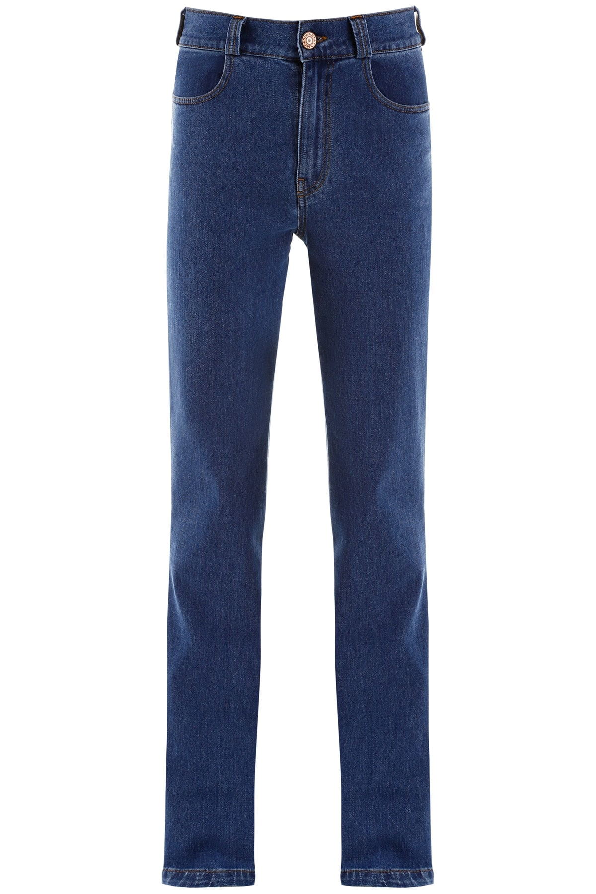 SEE BY CHLOE HIGH WAISTED JEANS 27 Blue Cotton, Denim