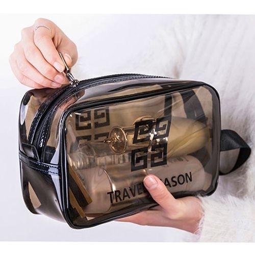 ins風網紅透明防水化妝包(小號) 旅行大容量洗漱包 收納袋