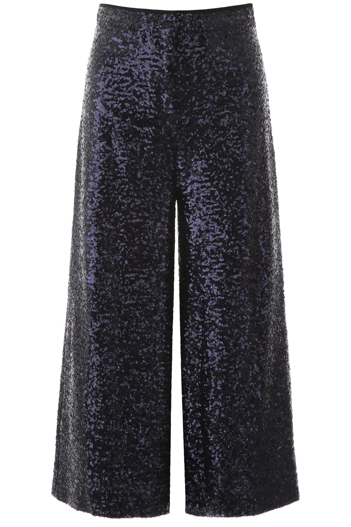 IN THE MOOD FOR LOVE SEQUINED CULOTTE TROUSERS S Blue