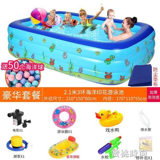 兒童充氣游泳池家用成人加厚超大號水上樂園小孩寶寶家庭嬰兒泳池