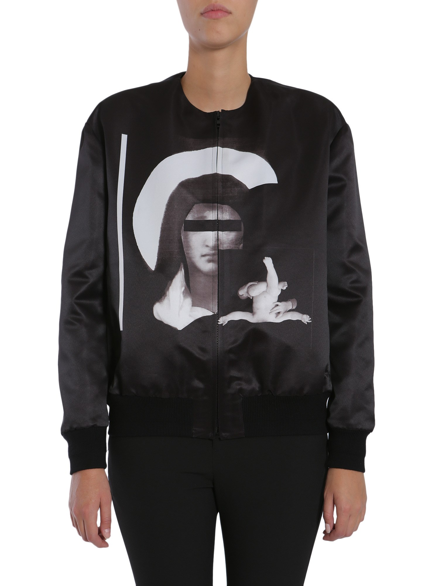 givenchy satin bomber jacket