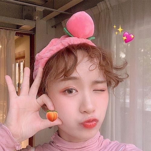 韓國ins水蜜桃洗臉髮帶 可愛少女心桃子頭帶 髮飾