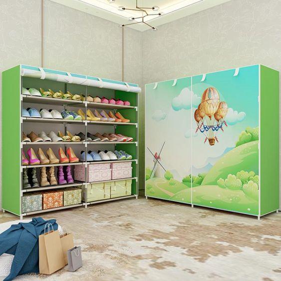 簡易鞋架多層家用收納鞋櫃布藝簡約現代經濟防塵鞋架子