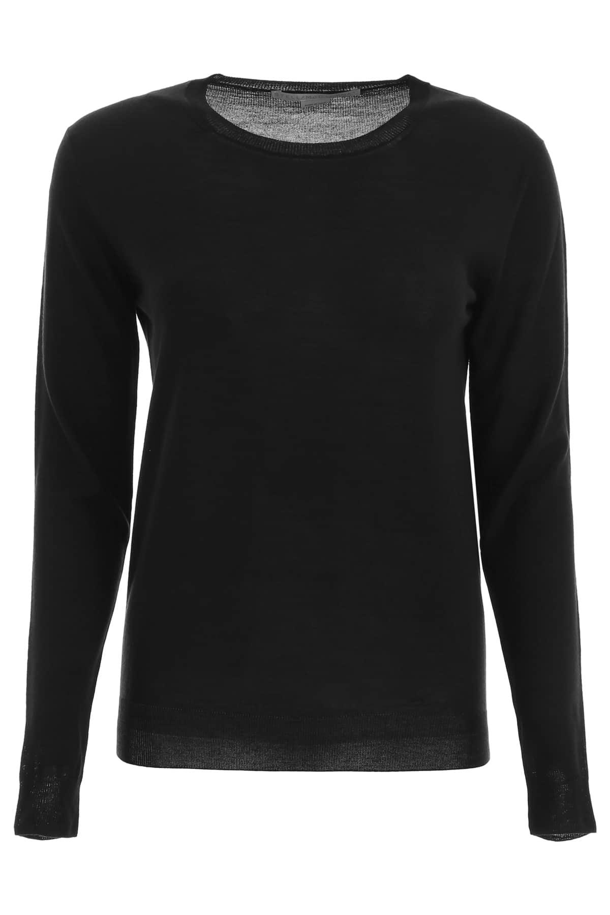 STELLA McCARTNEY CREW NECK PULLOVER 42 Black Wool
