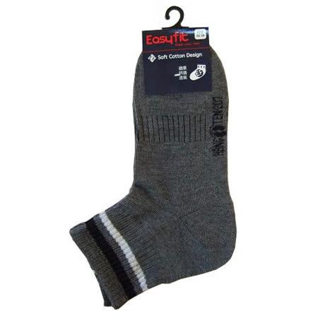 EF直角運動襪-灰(22~24cm)