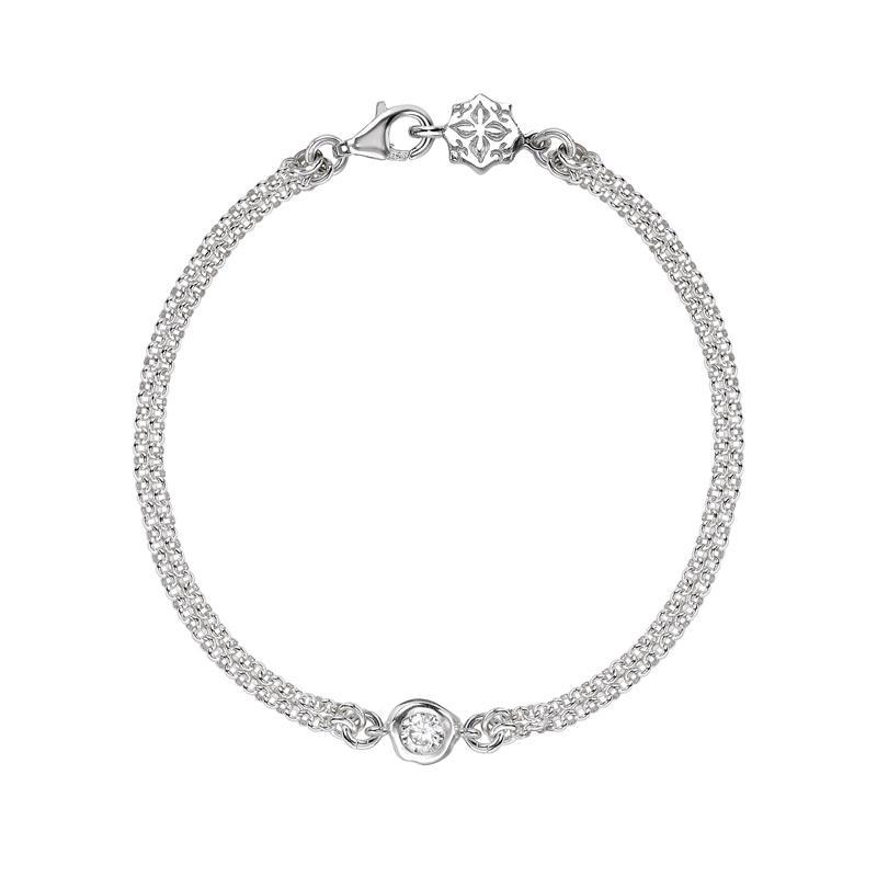 White Topaz Dewdrop Chain Bracelet