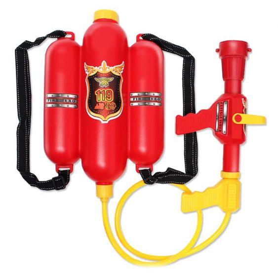 水槍玩具兒童背包消防水槍抽拉式大容量男孩水槍夏天戲水呲水槍-