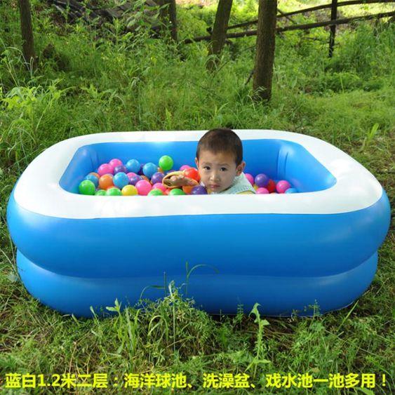 新生嬰兒游泳池家用充氣幼兒童寶寶洗澡桶加厚保溫游泳戲水池浴盆