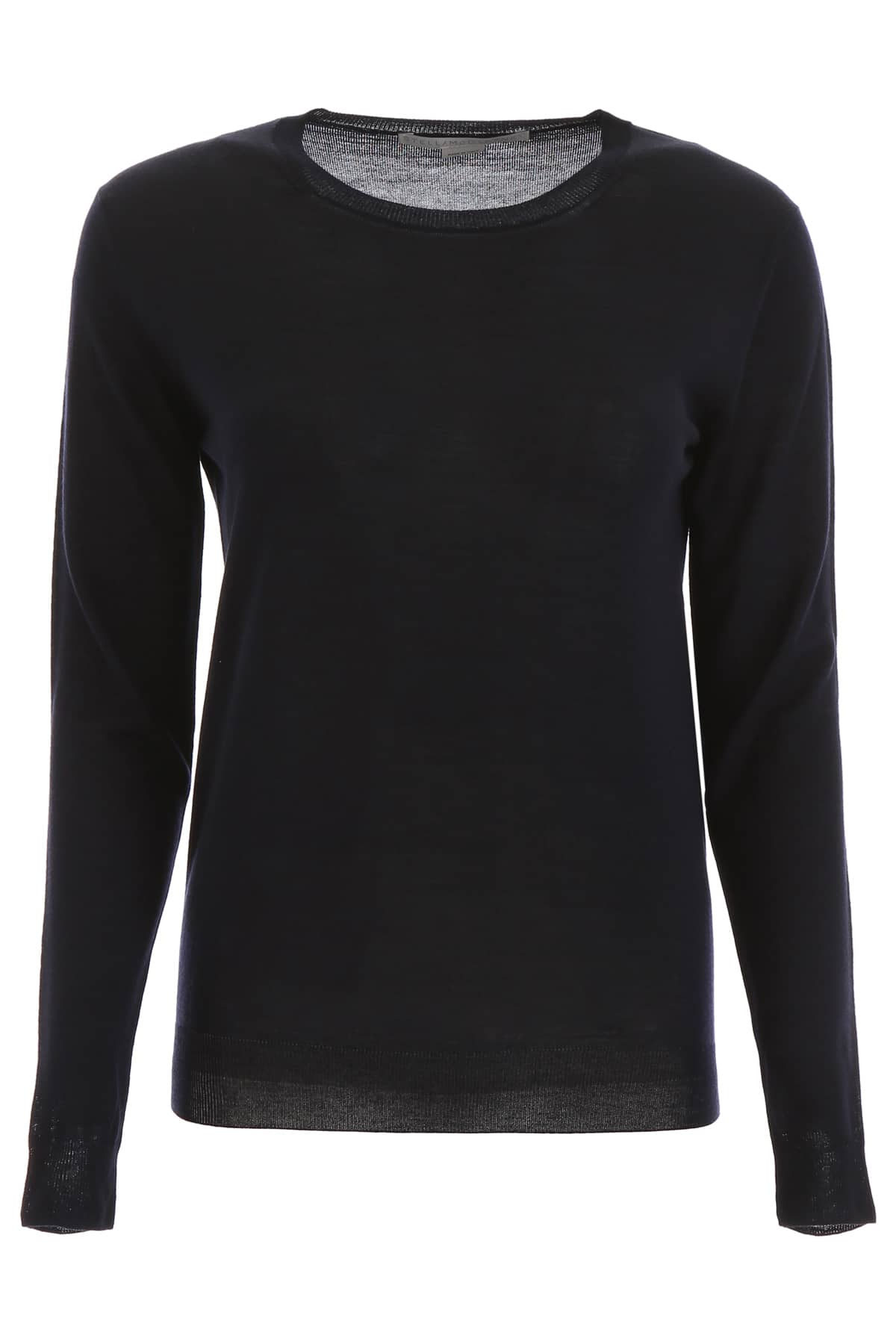 STELLA McCARTNEY CREW NECK PULLOVER 42 Blue Wool