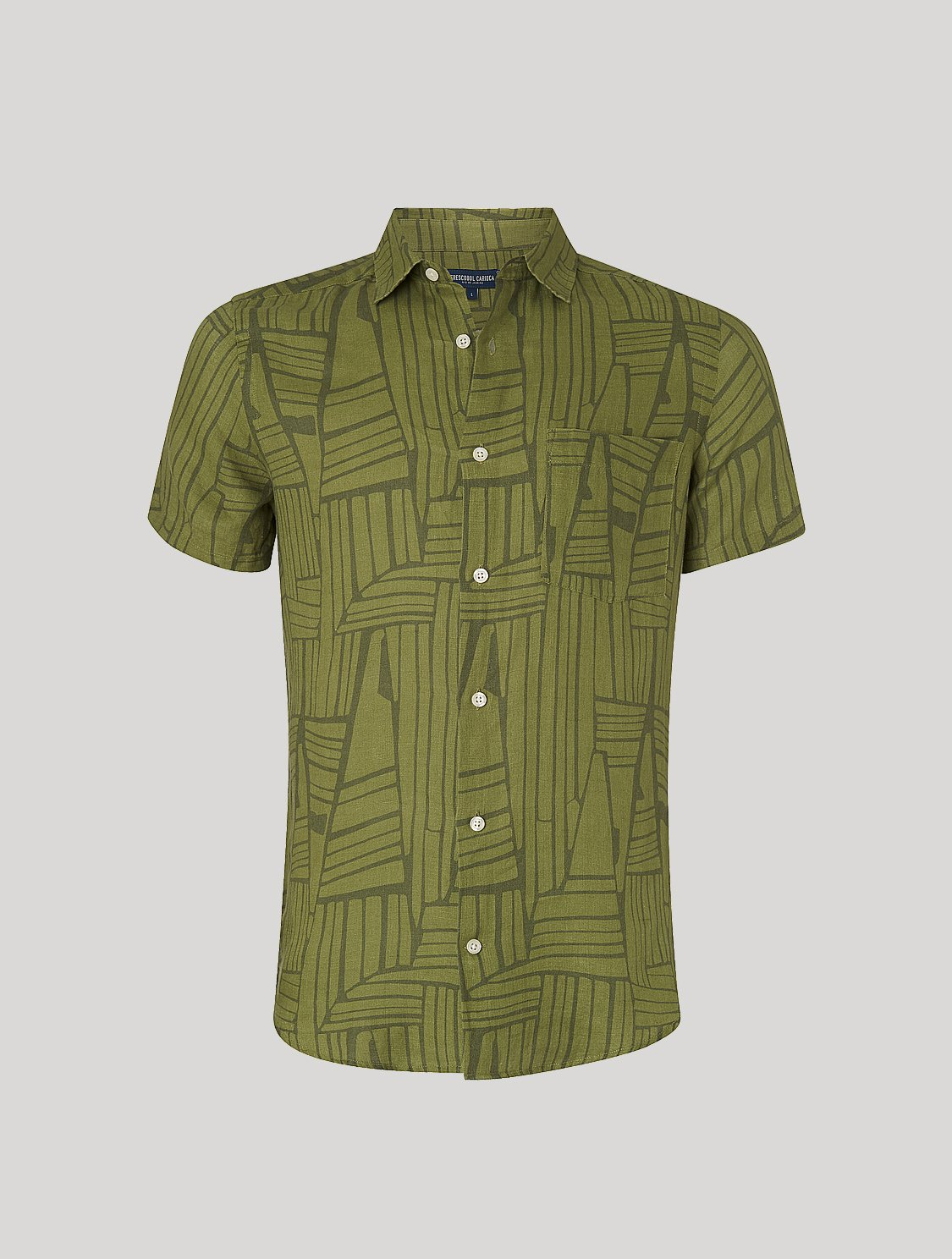 Tarsila Shirt Angles Print Olive M