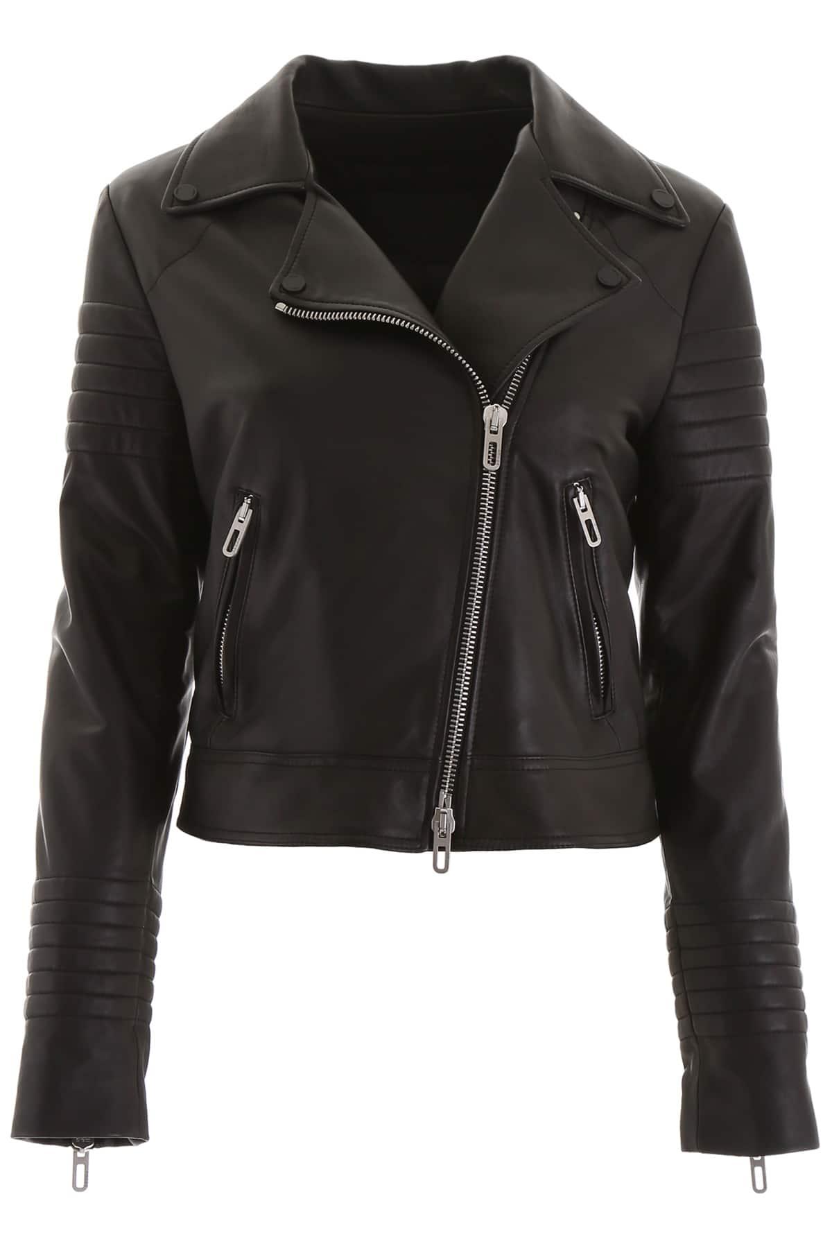 DROME BIKER JACKET M Black Leather