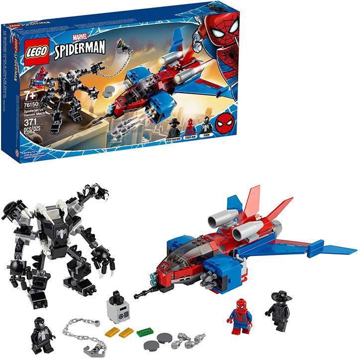 LEGO 樂高 漫威蜘蛛俠蜘蛛俠vs毒液Mech 76150超級英雄(371件)