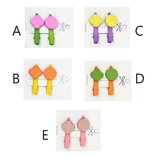韓國 可愛幾何圖形 髮夾 髮飾 5色