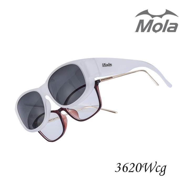 mola摩拉外掛式偏光太陽眼鏡 uv400 包覆式 近視可戴 男女-3620wcg