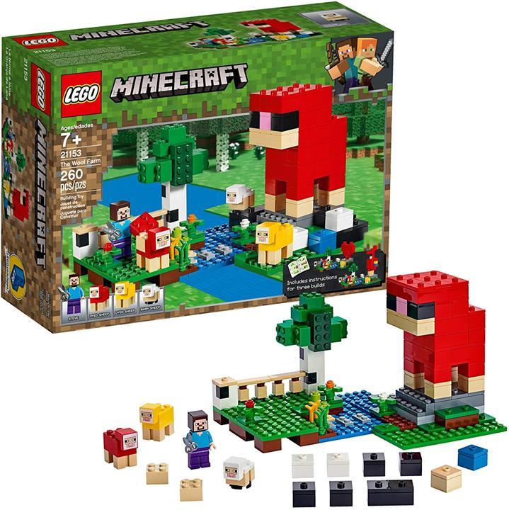 LEGO 樂高 Minecraft羊毛農場21153 (260件)