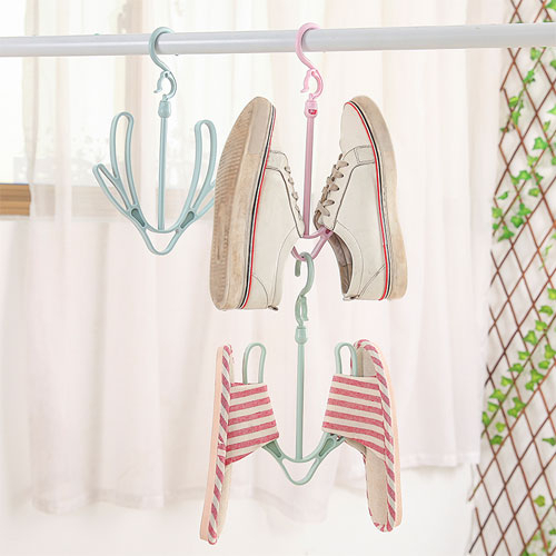 加厚雙鉤活動式360度旋轉曬鞋架 晾鞋架 多功能曬物架