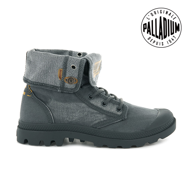 PALLADIUM PALLADENIM BAGGY 單寧帆布靴 男 鐵灰 76231-014