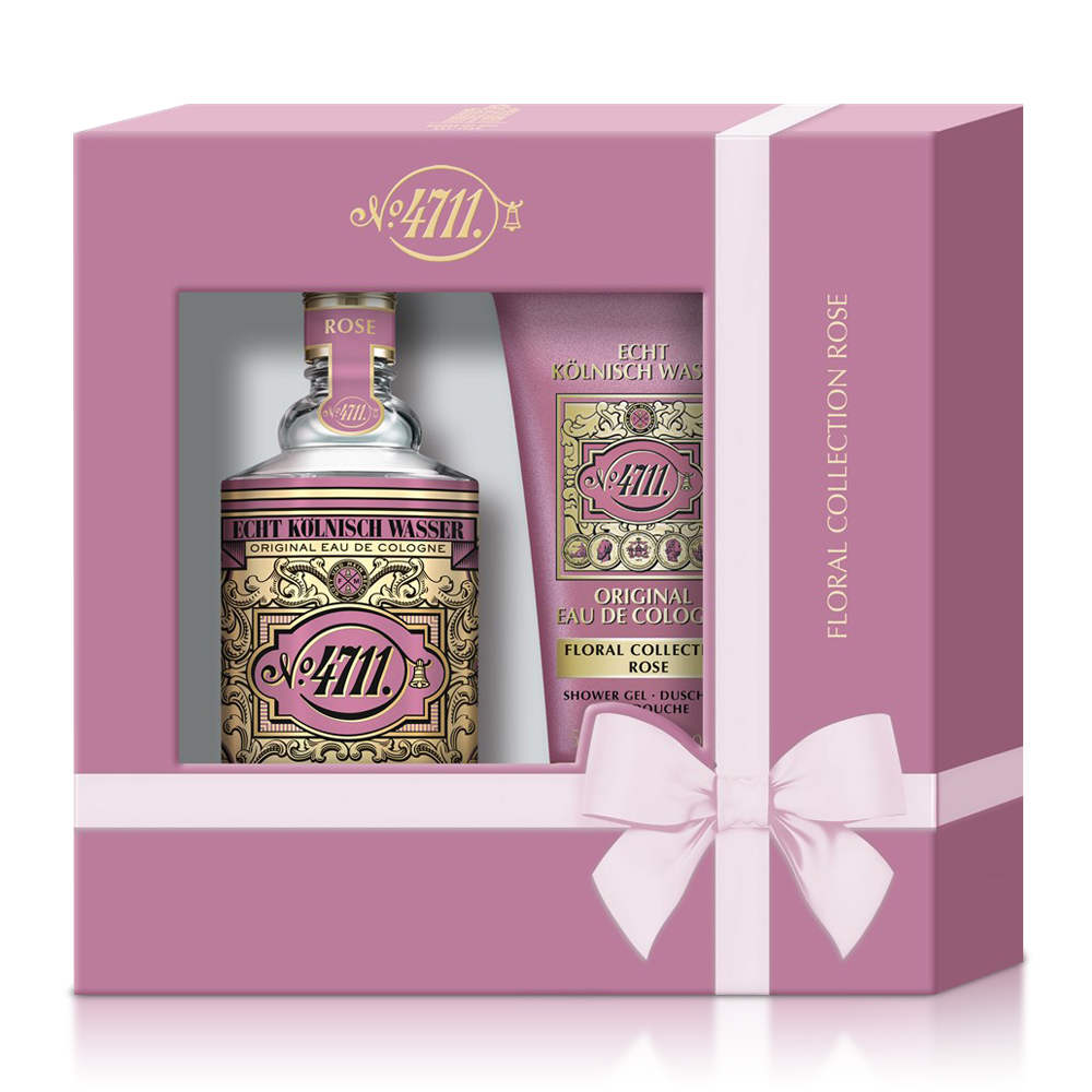 4711 Floral Collection Rose  玫瑰古龍水禮盒  古龍水100ml+沐浴膠50ml