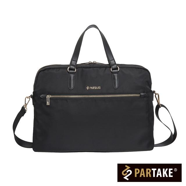 【PARTAKE】C3-14吋簡約中性職場公事包-黑 PT17-C3-71BK
