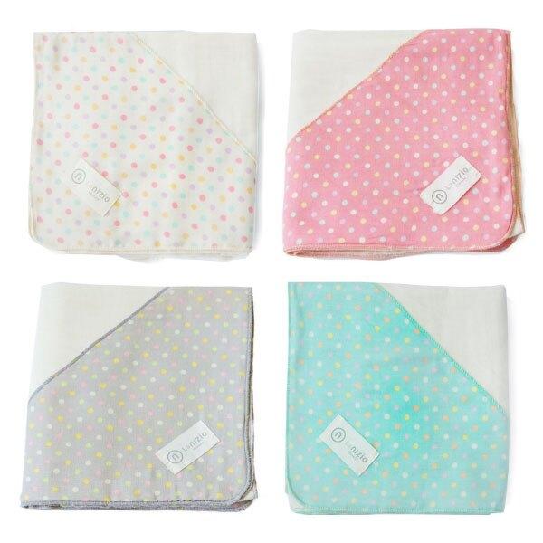 【買就送】Nizio 跳跳糖嬰兒四層紗浴包巾(4色可選)【買就送雙頭長短萬用夾】