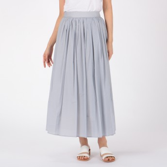 Munich(ミューニック)/co/ny paper lawn gathered maxi skirt