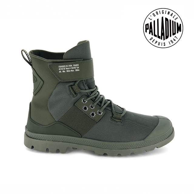 PALLADIUM PAMPA HI CB LITE+黏扣戰術防水靴-男-綠