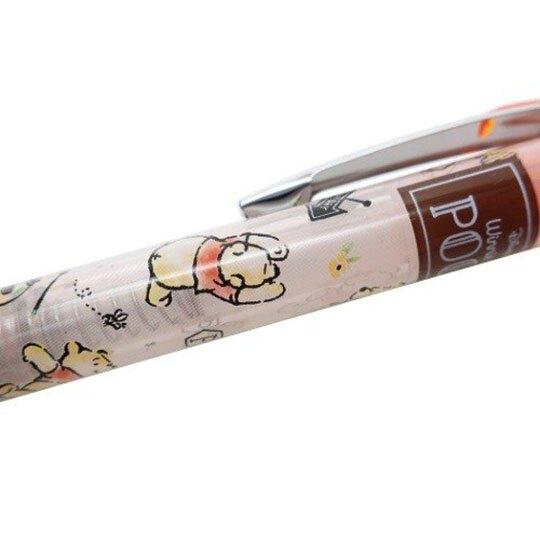【領券折$30】小禮堂 迪士尼 小熊維尼 日製 自動鉛筆 自動筆 0.5mm Pentel EnerGel (橘 花朵)