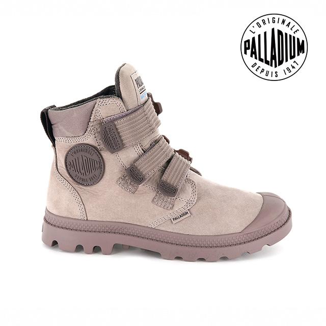 PALLADIUM PAMPA CUFF WP LUX ST黏扣皮革防水靴-女-玫瑰粉