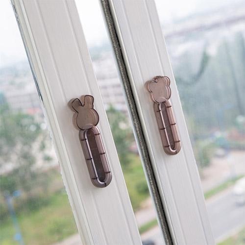多用途門窗拉門輔助器 (2個裝) 簡約抽屜櫃子拉手 窗戶櫥櫃門把手