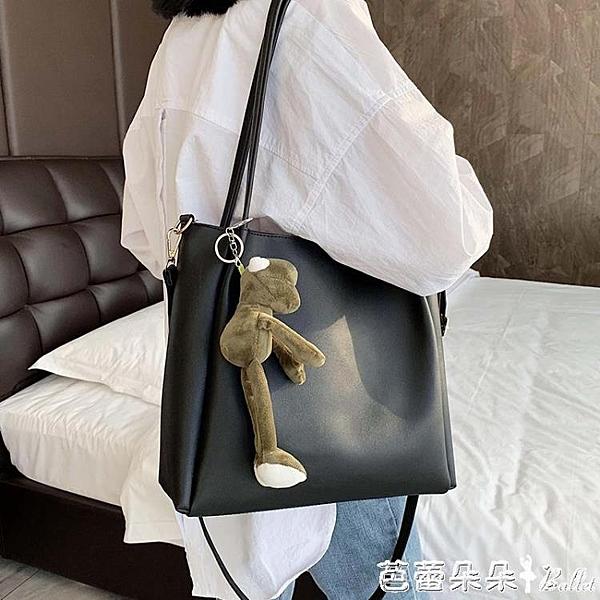 夏天女包包正韓百搭斜背包/側背包大容量單肩包時尚洋氣托特包-Ballet朵朵